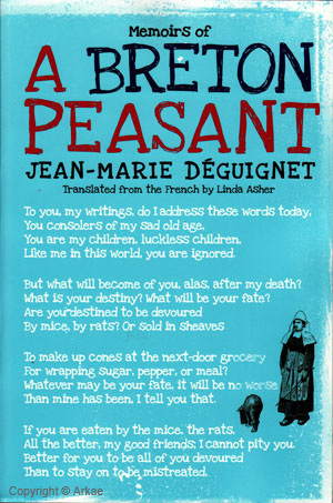 Couverture Memoirs of a breton peasant : version américaine de Jean-Marie Déguignet